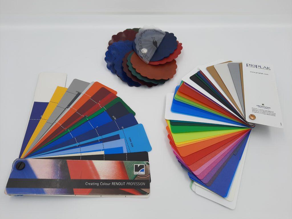 Pvc colour swatches