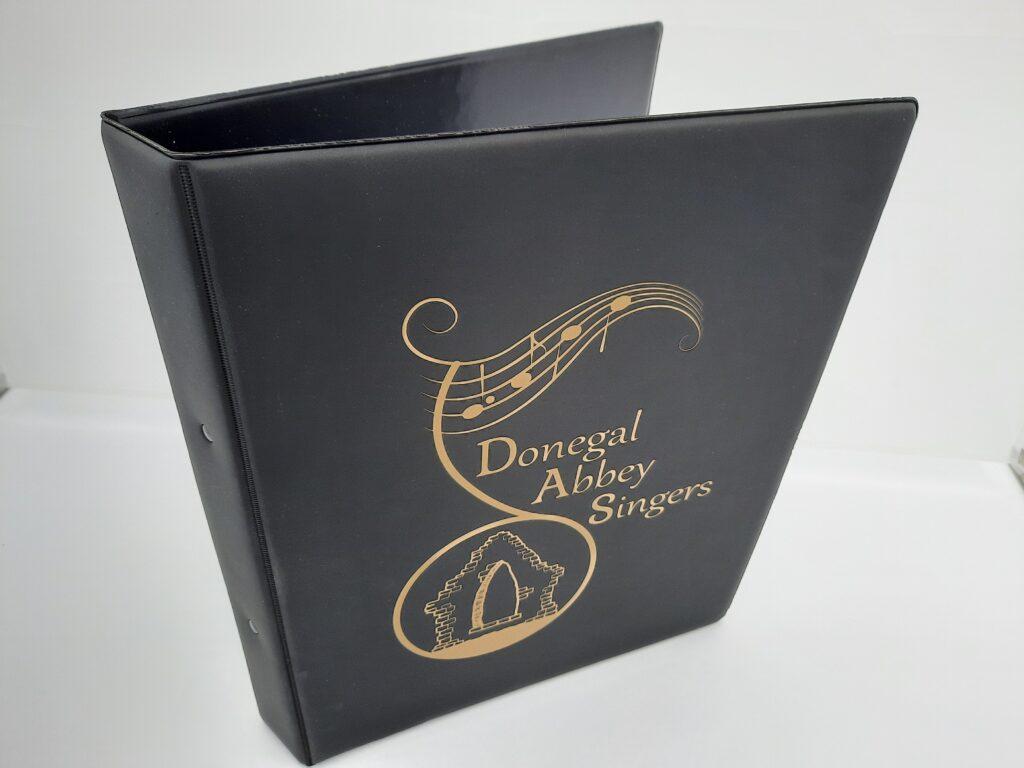 black folder gold foil print